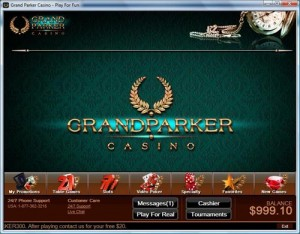 grand parker casino screenshot