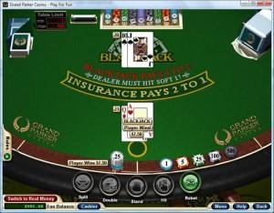 Real Money Blackjack Screenshot